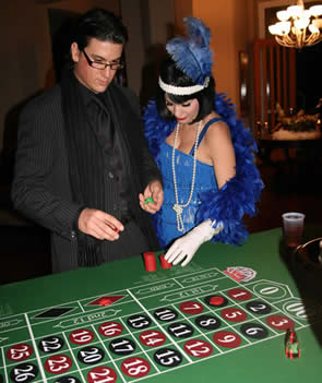 Roaring 20's Casino Night - Playing Roulette