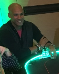 Jason Taylor at a Dream Dealers charity poker tournament, Scottsdale Arizona