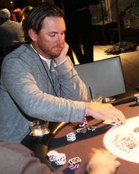 Jeremy Reed playing poker at a Dream Dealers charity poker tournament, #CelebrityPokerEventScottsdale  #ArizonaLocalCharity  #SupportLocalAZCharity