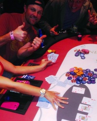 John Danks gives the thumbs up for his ROYAL FLUSH at the W Hotel's annual spring training charity poker tournament   #PokerForCharity  #CasinoNightInAZ  #CelebritySightingsAZPokerTournament