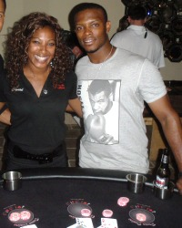 Justin Upton, Arizona Diamondbacks at the Dream Dealers blackjack table  #NotToBeMissedCharityEvents  #NotToBeMissedPokerAZ