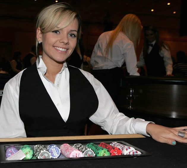 Casino night dealer for a charity casino night