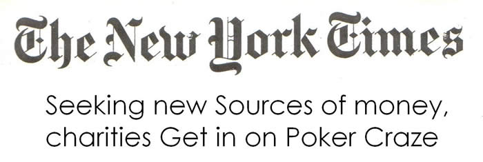 NY Times Charity Poker Article