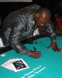 Orlando Hudson at a Spring Training Charity Poker Tournament  #PokerForCharity  #CasinoNightInAZ  #CelebritySightingsAZPokerTournament
