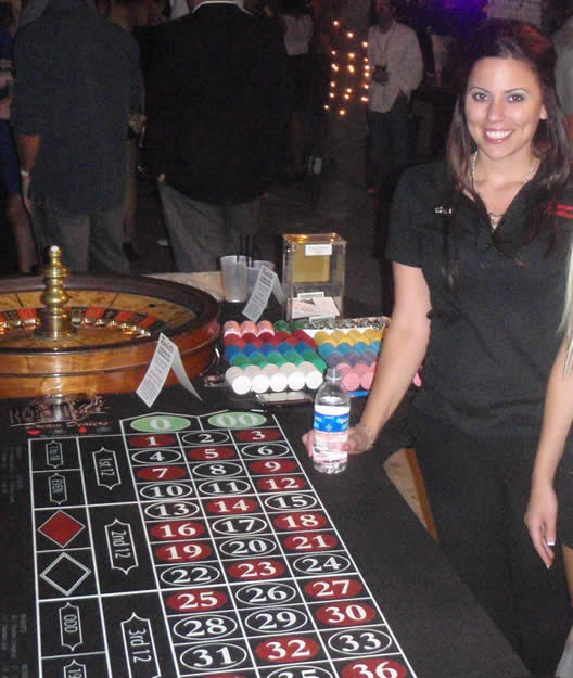 Roulette tables for rent in Phoenix, Arizona and Scottsdale